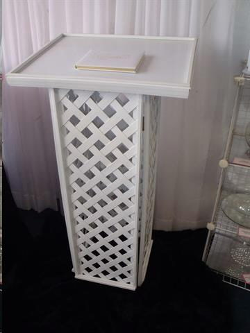 Where to find Lattice Guest Book Stand in Fairbanks